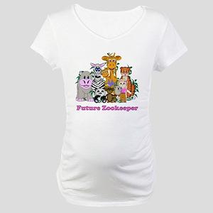 Future Zookeeper Girl Maternity T-Shirt