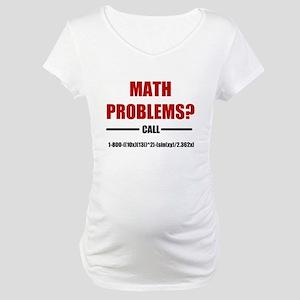 Math Problems Maternity T-Shirt