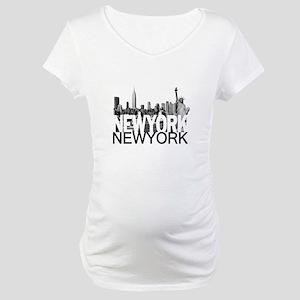 New York Skyline Maternity T-Shirt