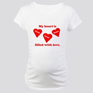 Personalized My Heart Filled Maternity T-Shirt