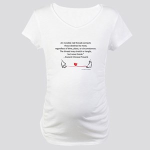 Red Thread Proverb Maternity T-Shirt