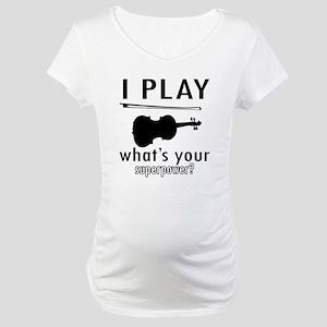 Cool Violin Designs Maternity T-Shirt