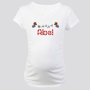 Abel, Christmas Maternity T-Shirt