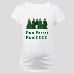 Run Forest Run Maternity T-Shirt