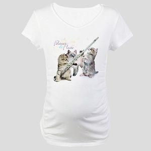 Felines Flute Maternity T-Shirt