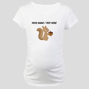 Custom Cartoon Squirrel Maternity T-Shirt