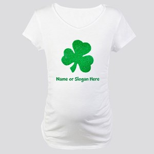 Custom Irish St. Patricks Day Maternity T-Shirt