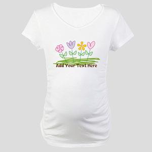 Custom Cute Flowers Maternity T-Shirt