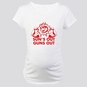 SUNS OUT! GUNS OUT! Maternity T-Shirt