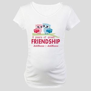 6th anniversary couple Maternity T-Shirt