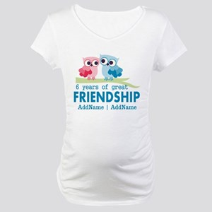 6th Anniversary Couple Gift Pers Maternity T-Shirt