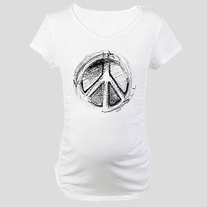 Grunge Urban Peace Sign Maternity T-Shirt