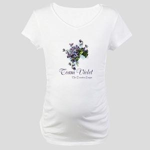 Team Violet Maternity T-Shirt