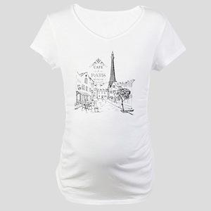 Cafe Paris Maternity T-Shirt