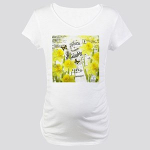 Vintage daffodils Maternity T-Shirt