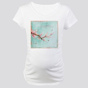 Live life in full bloom Maternity T-Shirt