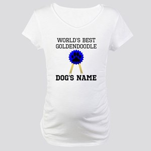 Worlds Best Goldendoodle (Custom) Maternity T-Shir