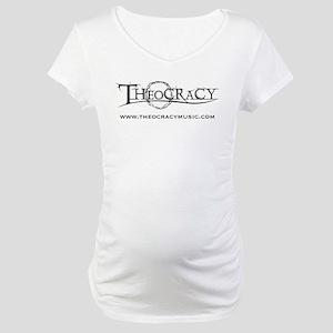 Theocracy band black logo Maternity T-Shirt