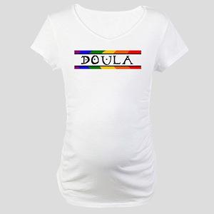 Doula Rainbow Maternity T-Shirt