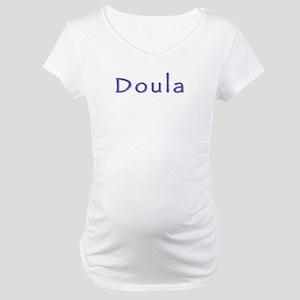 Doula white/purple Maternity T-Shirt