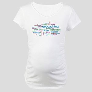 Geocaching Word Cloud Maternity T-Shirt