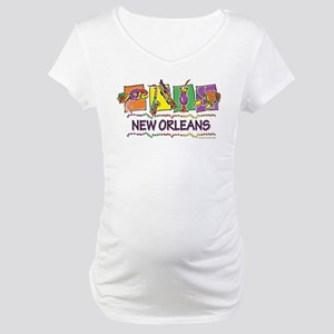 New Orleans Squares Maternity T-Shirt