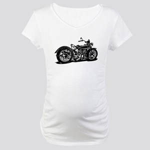 Vintage Motorcycle Maternity T-Shirt