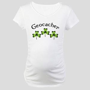 Geocacher 3 Shamrocks Maternity T-Shirt