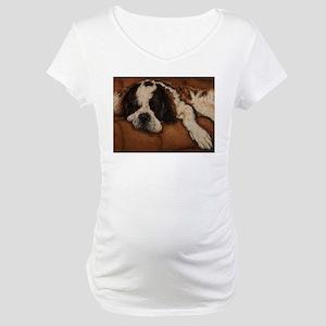 Saint Bernard Sleeping Maternity T-Shirt