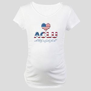 I <3 ACLU Maternity T-Shirt