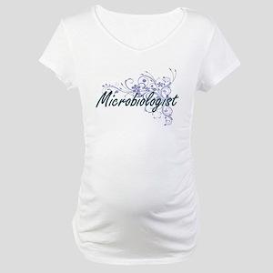 Microbiologist Artistic Job Desi Maternity T-Shirt