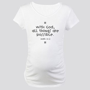 with-god Maternity T-Shirt