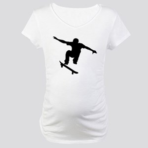 Skateboarder Silhouette Maternity T-Shirt