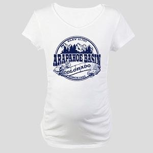 A-Basin Old Circle Blue Maternity T-Shirt