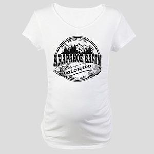 A-Basin Old Circle Black Maternity T-Shirt
