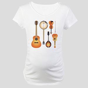 String Instruments Maternity T-Shirt