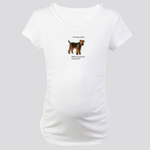 Guilty Airedale Shows No Remorse Maternity T-Shirt