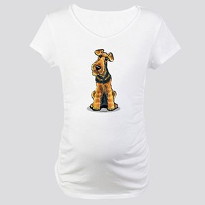 Airedale Welsh Terrier Maternity T-Shirt