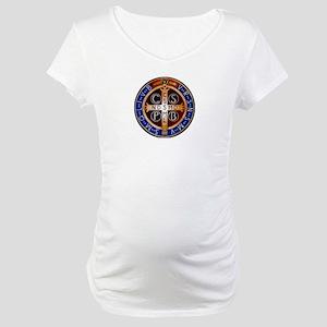 Benedictine Medal Maternity T-Shirt