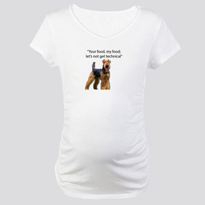 Your Food - My Food Airedale Maternity T-Shirt