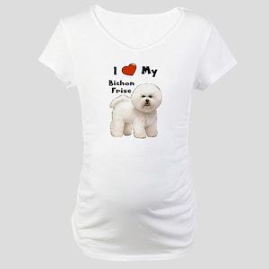 I Love My Bichon Frise Maternity T-Shirt