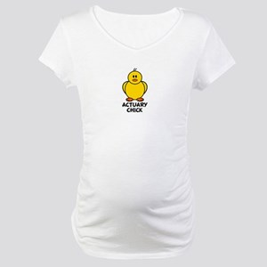 Actuary Chick Maternity T-Shirt