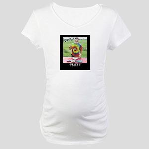 Peace at Woodstock Monument Maternity T-Shirt