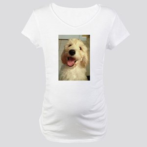 Happy Goldendoodle Maternity T-Shirt