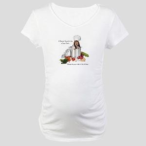 Basset Chef Maternity T-Shirt