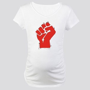 Raised Fist Maternity T-Shirt