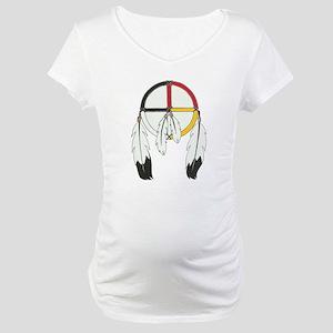 Feathered Medicine Wheel Maternity T-Shirt