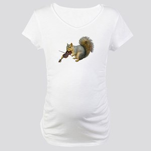 Squirrel Violin Maternity T-Shirt