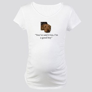 Sulking Airedale Terrier Giving Maternity T-Shirt