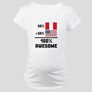 Awesome Peruvian American Maternity T-Shirt